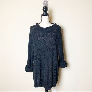 Vintage Express Tricot chunky cable knit sweater